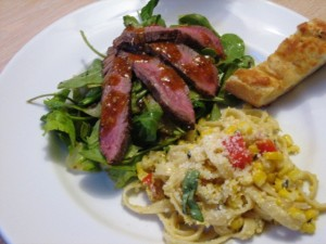 steak salad1 300x225 Pasta Corn Chowder