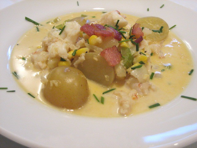 Lobster corn chowder 007