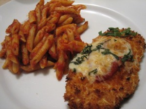 chicken Parmesan 2 300x225 Crispy Chicken Parmesan