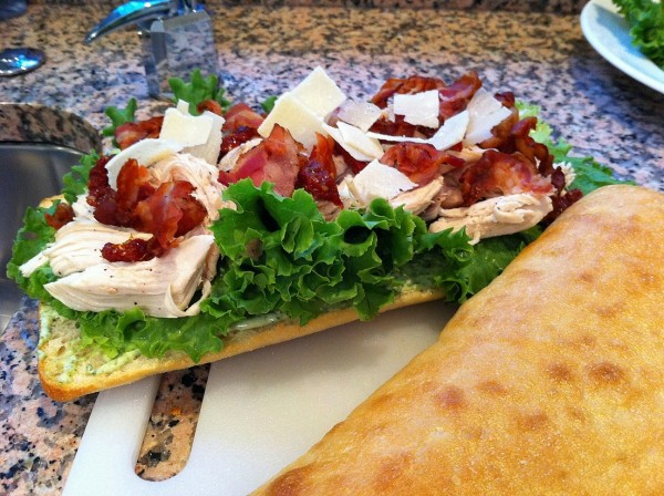 chicken caesar sandwiches