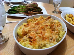 Cauliflower Gratin 300x224 Cheese and Cauliflower Gratin