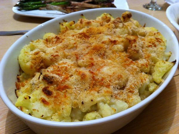 cauliflower gratin close up
