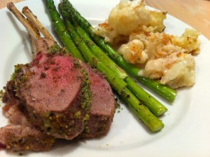 rack of lamb persillade plated 300x224 Rack of Lamb Persillade