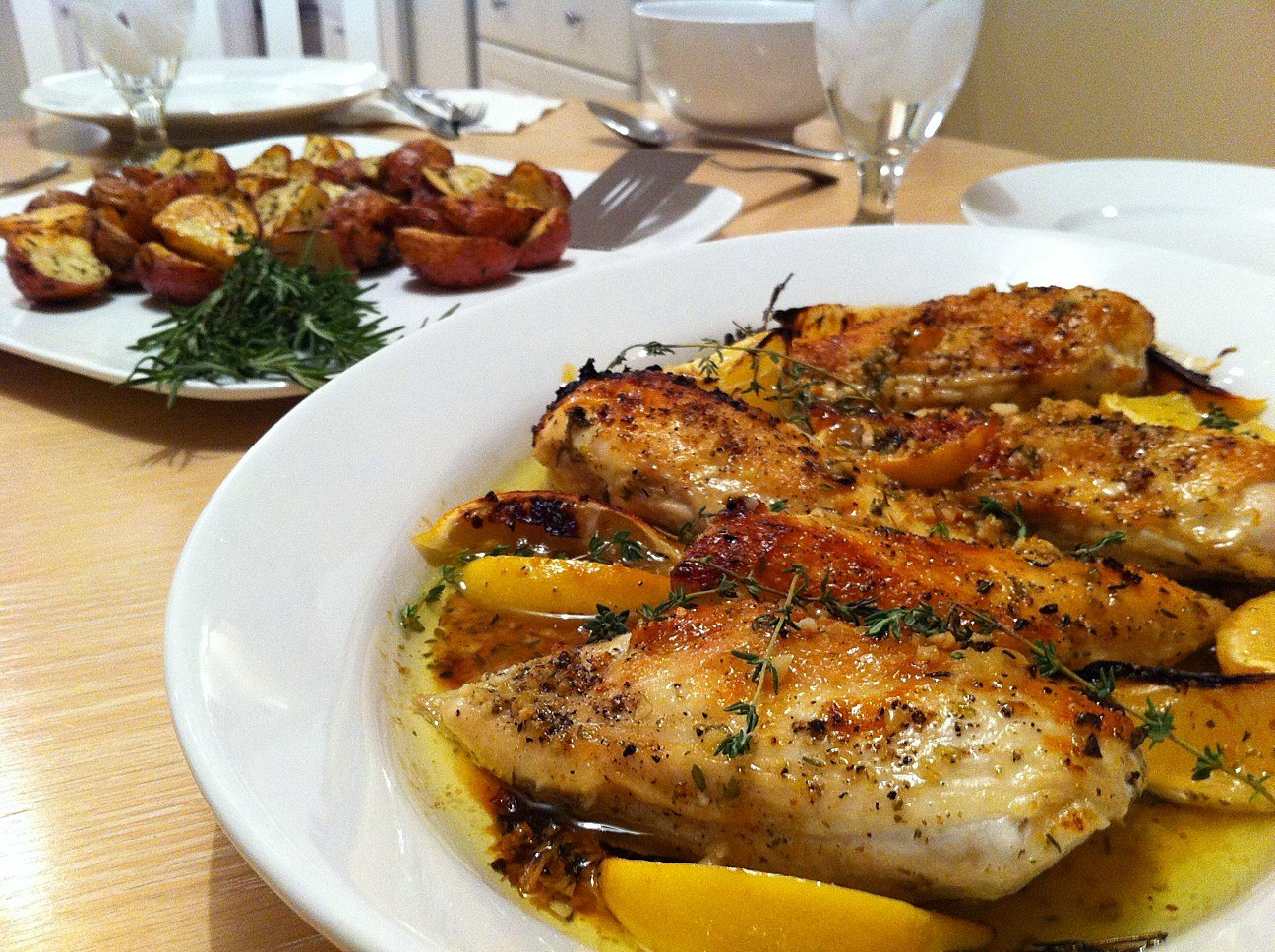Lemon herb baked chicken 3