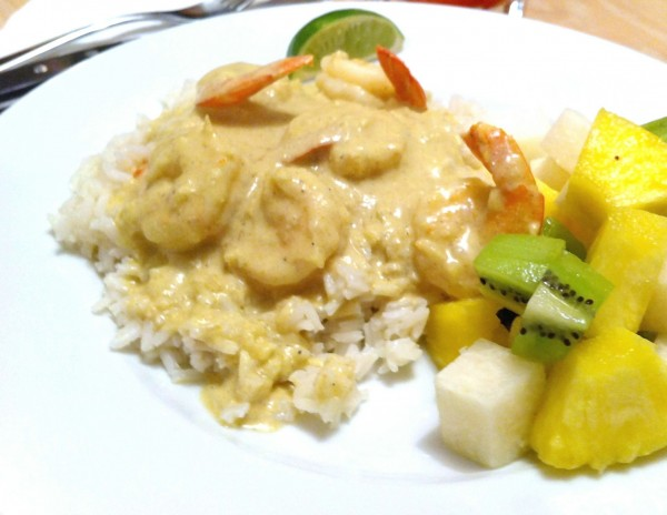 Coconut Curried Shrimp