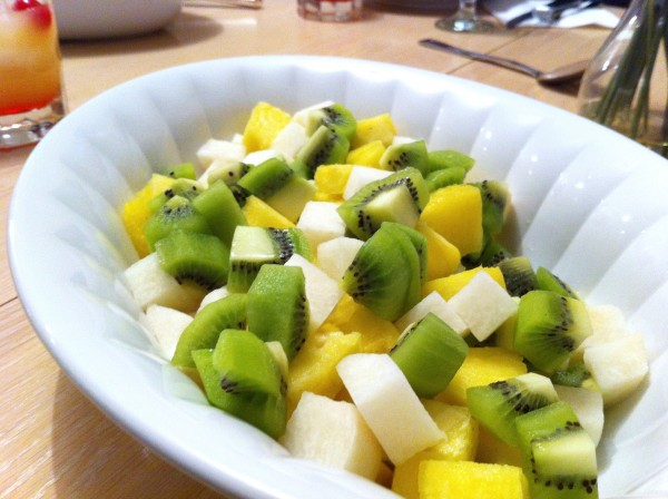 Jicama pineapple and kiwi salad