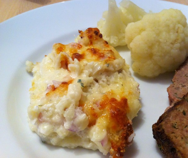 Twice baked Potatoes plated
