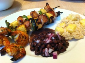Hawaiian Chicken Kabob 288x215 Hawaiian Chicken Kabobs