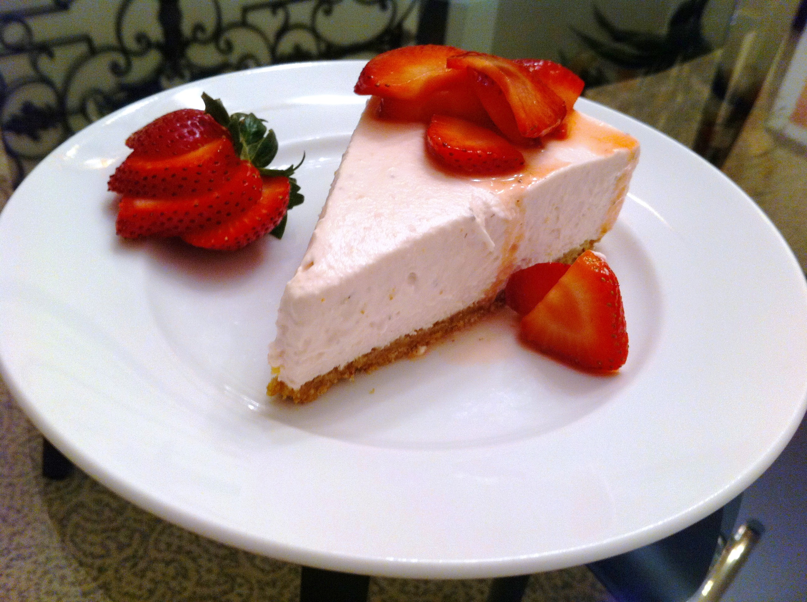 Baked Strawberry Cheesecake Recipe No bake strawberry cheesecake ...