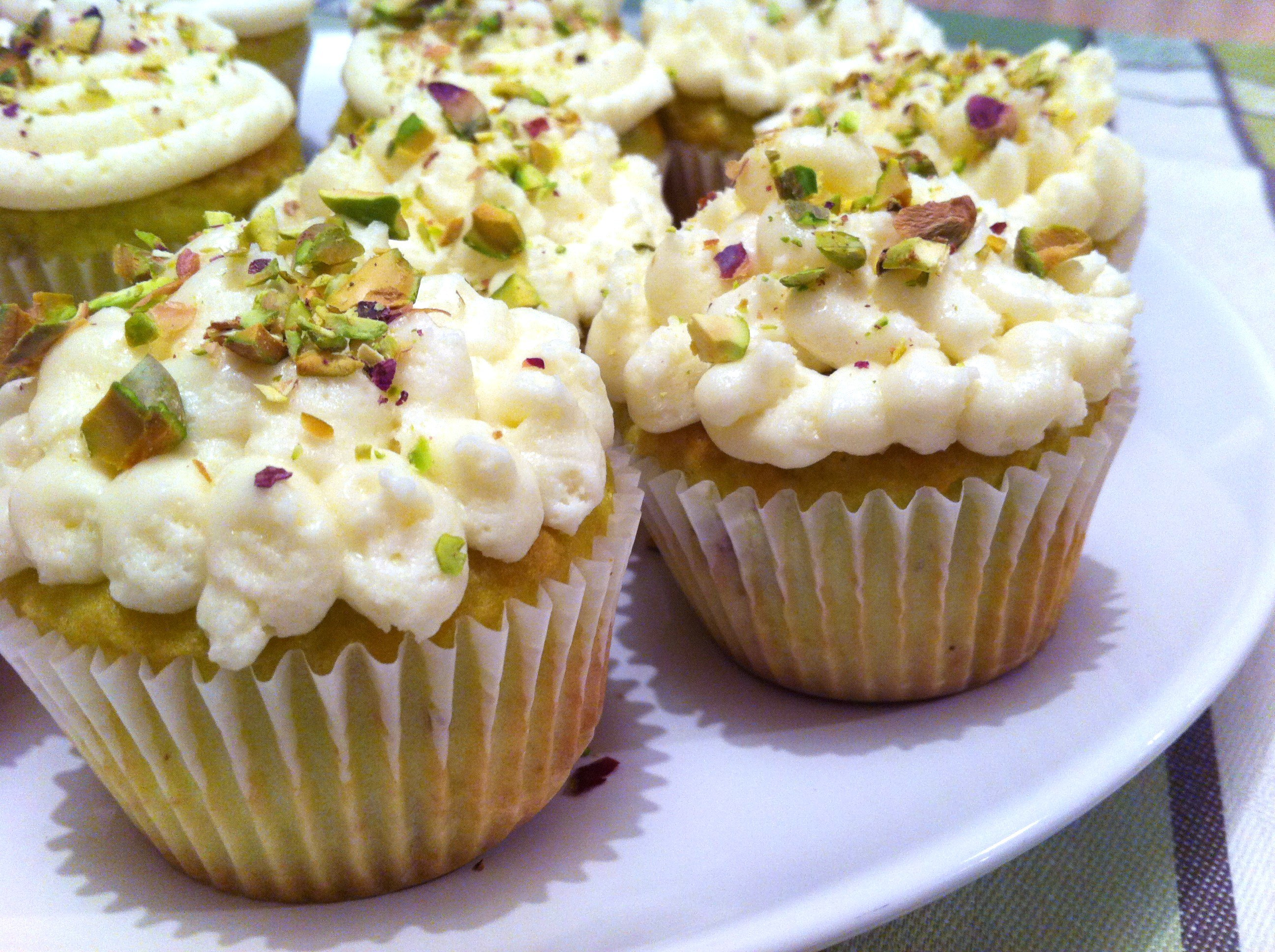 Pistachio Cupcakes with Cream Cheese Frosting - Andicakes