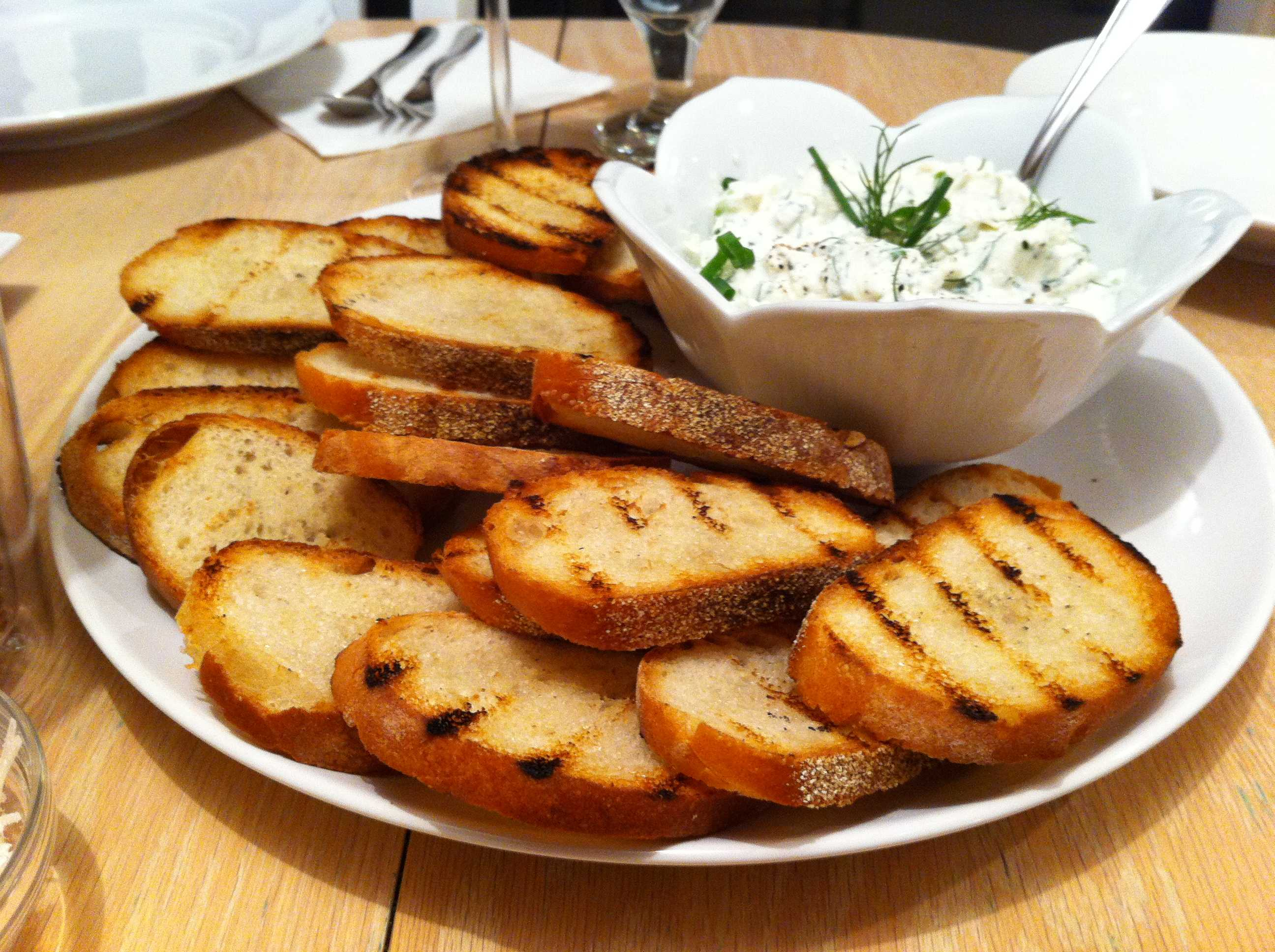 Tuscan Fettunta with an Herb Ricotta